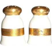 Nippon White China Porcelain Individual Shakers