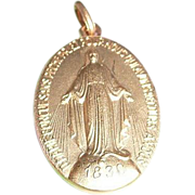 Medal from France of Our Lady of The Miraculous Medal