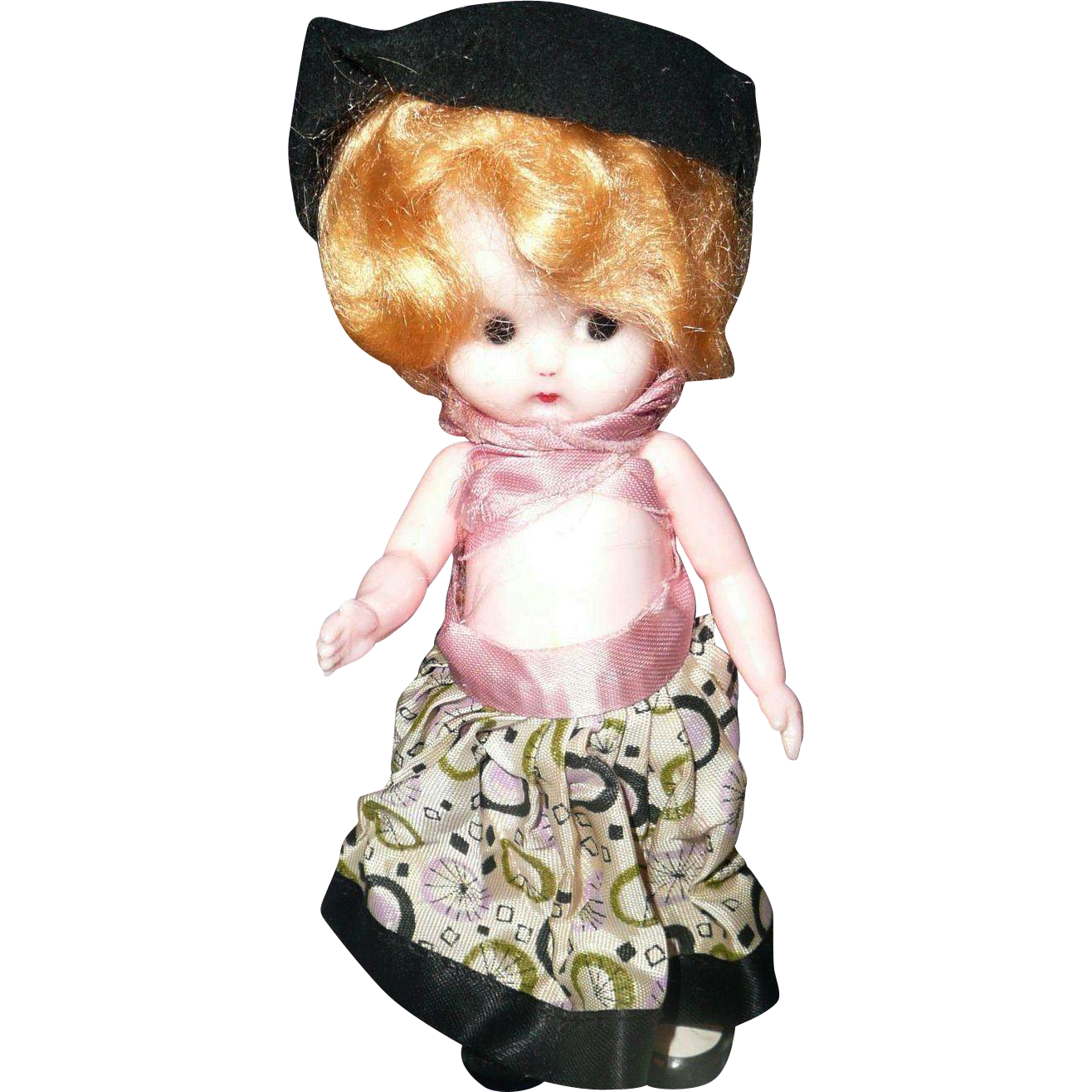 "Cute 7"" 1950's Hard Plastic Doll"