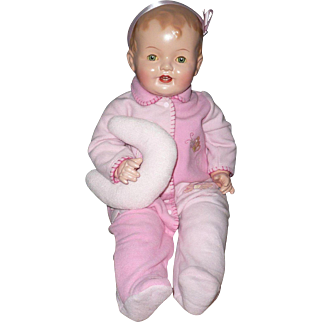 Beautifully  Restored Huge Composition Baby Doll