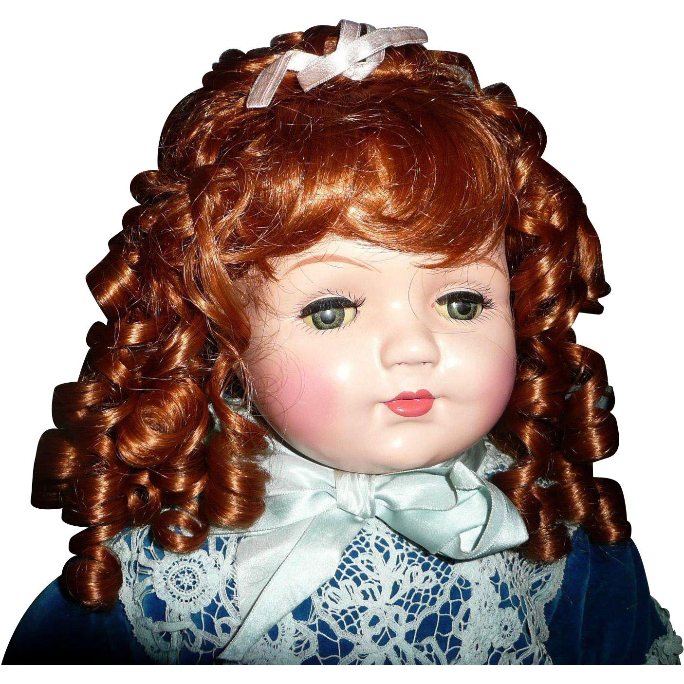 "Gorgeous  Huge 20"" Composition Mama Doll"