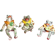 Vintage Occupied Japan Set of Frog family