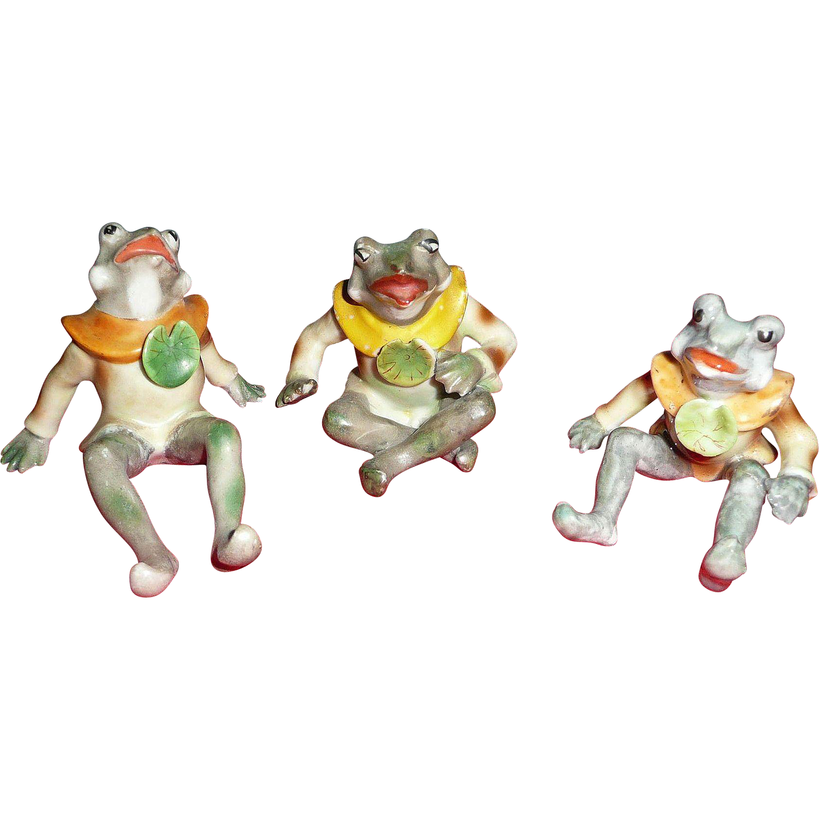 Vintage Occupied Japan Set of Frog family from ...