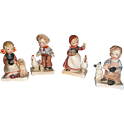 Nikoniko Import set of  four children with animals