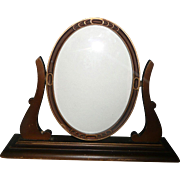 Vintage Wood Oval Picture Frame