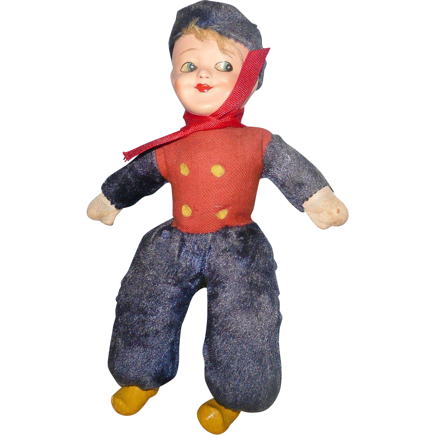 Vintage Sweden  Sailor Boy Doll