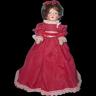 """Primitive 12"""" Girl Doll in Red"""