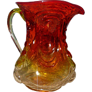 L.E. Smith Amberina Glass Pitcher