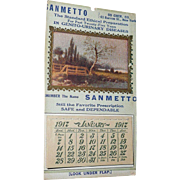 1917 Pocket Advertisement Sanmetto  Calendar