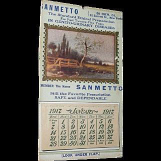 1917 Pocket Advertisement Sanmetto  Calendar