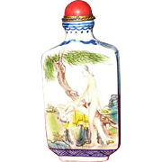 Vintage Erotic Snuff Bottle *Signed