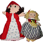 Lot of vintage Red Riding Hood and Goldilocks  Turby Dolls