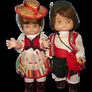 Vintage 1970's Tenerife Set of Boy/Girl Dolls