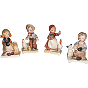 Nikoniko Import, Set of Four Farm Children