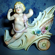 Beautiful Bisque Cherub Figurine