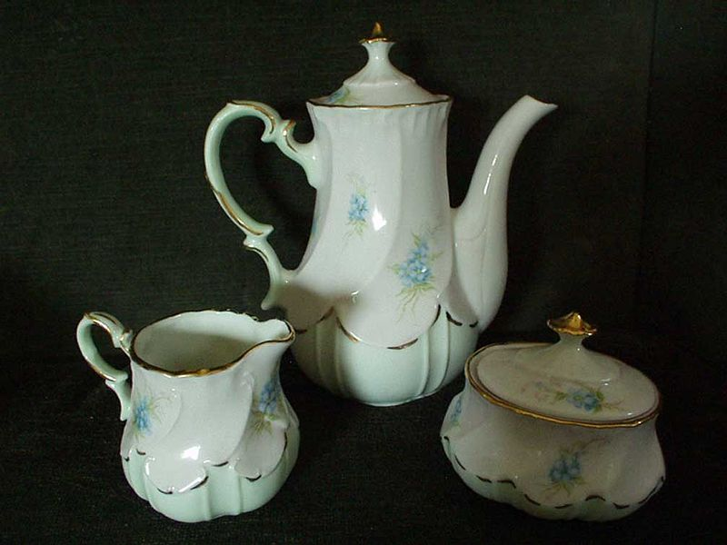 Signed  Austria Coffee Pot Creamer and Sugar set