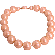 17-Inch Large Simulated Pearl Choker, Vintage Mid-Century Modern Style!