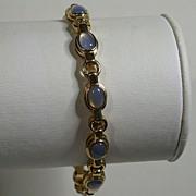 """Vermeil Bracelet w/Faux Moonstones, 7.5"""" Length"""