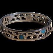 Taxco Mexico 925/Turquoise Bracelet, Hallmarked, Vintage