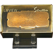 "Vintage Stratton ""Lipview"" Lipstick Mirror In Original Box"