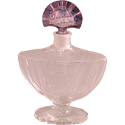 Baccarat Guerlain Shalimar Perfume Bottle, Vintage, Signed