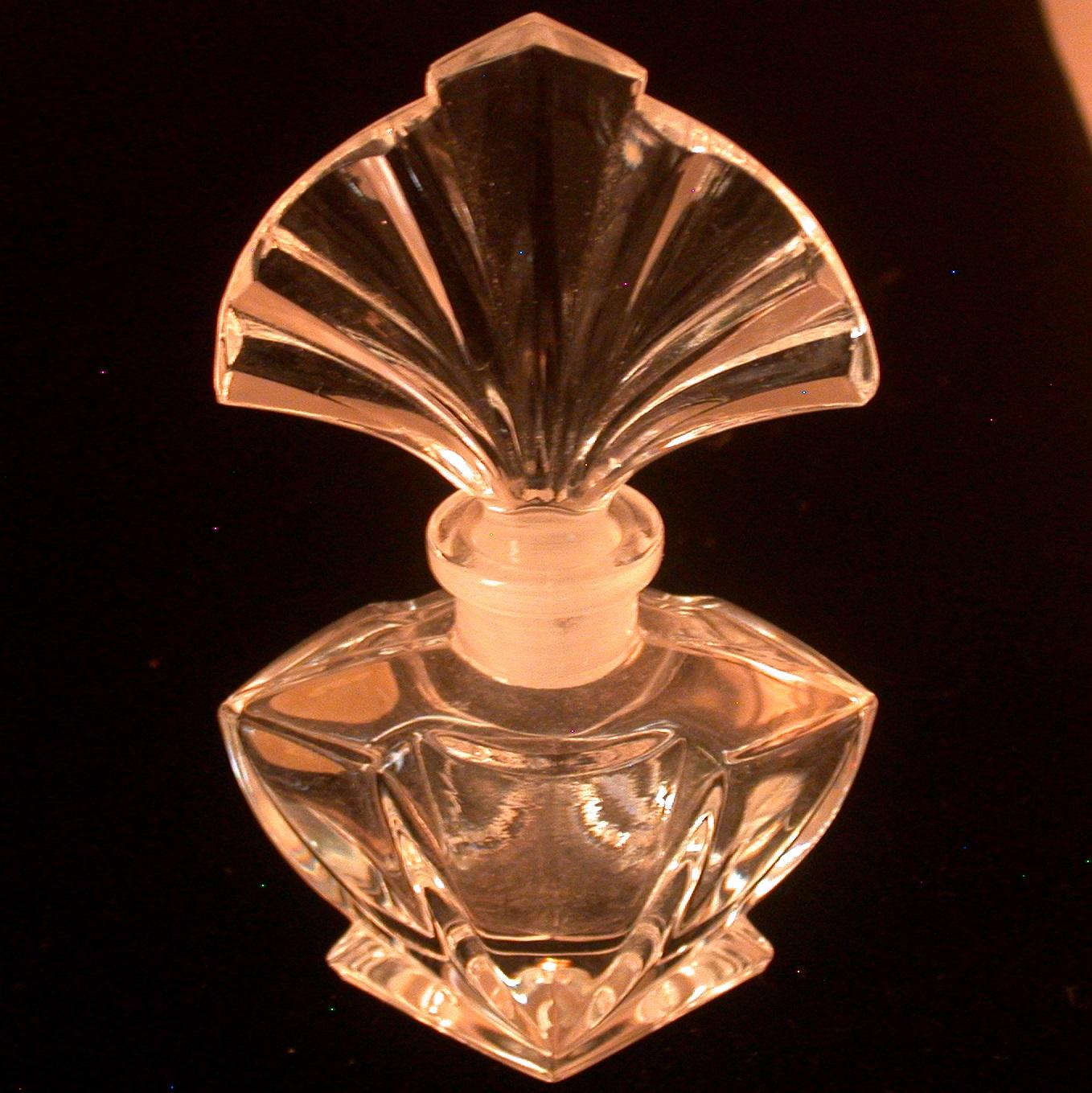 vintage art deco style perfume labeled made in west