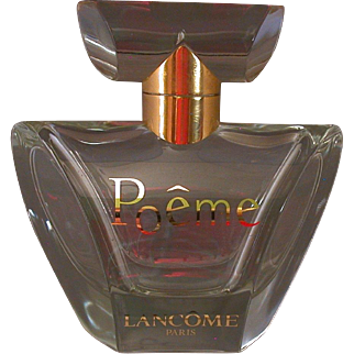 """Lancome """"Poeme"""" Factice Perfume Bottle, Heavy Crystal, French"""