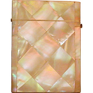 Mother-Of-Pearl Covered Calling Card Case, Victorian