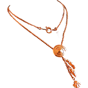 "Vintage Trifari ""Beach Necklace"" w/Shell Dangles, 15-in."