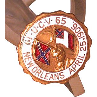 United Confederate Veterans 1906 New Orleans Convention Hatpin