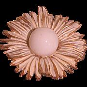 "Vintage ""Mod"" Flower Pin Circa 1960-70's, Cute"