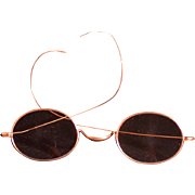 "Antique 10K Gold Eyeglasses, Marked ""Stevens & Co."""