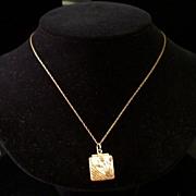 Antique Aesthetic Movement 14K Gold-Topped Locket w/Garnet
