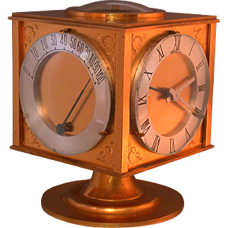 Hour Lavigne Clock/Weather Station/Compass, 5-Faces, Pedestal Stand