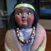 Vintage  1950s Era Skookum Indian Girl Child Doll