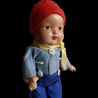 Vintage 1939 World's Fair Jointed Composition International Doll Dutch AO