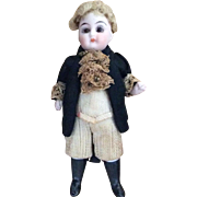 Antique All Bisque German Doll Dressed as Country Gentleman