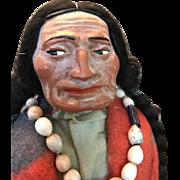 Vintage American Made Skookums Native American Warrior Doll