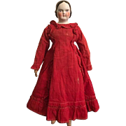 Antique China Doll with Covered Wagon Hairstyle