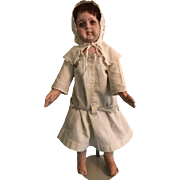 Antique Cloth Alabama Baby Doll with Original Wig and Clothing