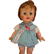 """16"""" Vintage Ideal Tiny Kissy Doll with Cloth Tag"""