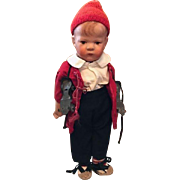 Vintage Kathe Kruse Handpainted Cloth Boy Doll