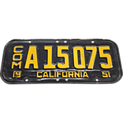 1951 California Commercial License Plate