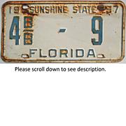 1957 Florida License Plate