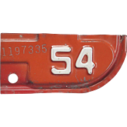 1954 California License Plate Tab
