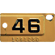 1946 California License Plate Tab