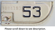Old California License Plate Tab 1953