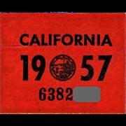 Old California Sticker 1957