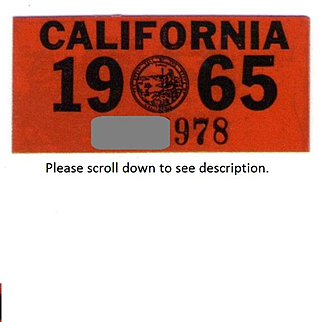 1965 California Decal