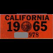 1965 California Decal